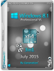 Windows 8.1 Pro VL 3in1 ESD July 2015 by Generation2 v.6.3.9600 (x64) (2015) [ENG/RUS/GER/MULTI6]
