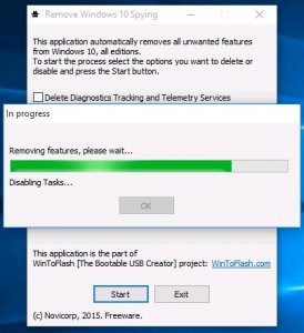 Novicorp Remove Windows 10 Spying Features 1.1.0000 Portable [En]