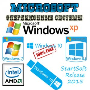 Windows 10-8.1-7-XP Plus PE WPI StartSoft 61-2015 (x86/x64) [Ru] (2015)