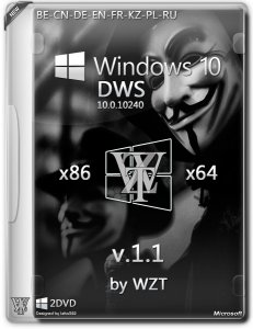Windows 10 DWS [2DVD] by WZT (v1.1) (x86-x64) [Multi/Ru] (2015)