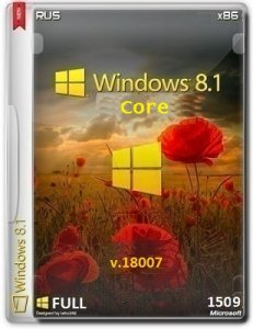 Microsoft Windows 8.1 Core 9600.18007.150807-0612 x86 RU FULL by Lopatkin (2015) RUS