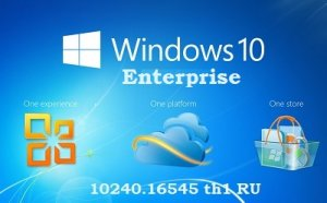 Microsoft Windows 10 Enterprise 10240.16545 th1 x86-x64 RU Desktop-PC FX by Lopatkin (2015) RUS