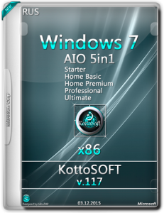 Windows 7 5 in 1 KottoSOFT v.117 (х86) (RUS) [2015]