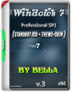 Win 7 SP1 Pro (Standart Ico + Thems+Skin ) By Bella and Mariya v.3..iso (x86) [Ru] (2015)