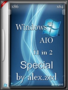 Windows 7 SP1 Special 11in2 by alex.zed (x86/x64) [Ru] (2015)