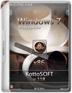 Windows 7 x86 Enterprise KottoSOFT v.118 (RU UKR ENG) [2015]