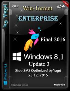 Windows 8.1 Enterprise Stop SMS Optimized by Yagd v.01.2016 (x64) [Ru] (25.12.2015)