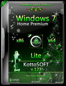 Windows 7 Home Premium Lite KottoSOFT v.123 (x86-x64) (RUS) [2015]