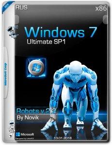 Windows 7 Ultimate SP1 ROBOTS v2.2 novik (x86) [Ru] (2016)
