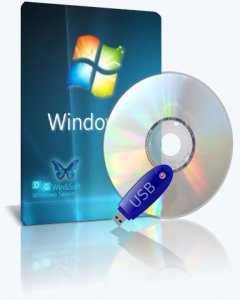 Microsoft Windows 7 SP1-u with IE11 (2 x 3in1) - DG Win&Soft 2016.01 (en-US, ru-RU, uk-UA) [2 образа: x64 и x86] (2016)