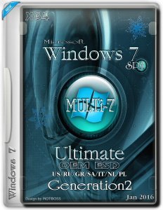 Windows 7 Ultimate SP1 MULTi-7 OEM ESD (x64) (Ru/multi7) Generation2 [18/01/2016]