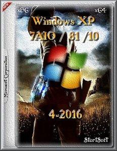 Windows XP / 7AIO / 81 /10 pe StartSoft 4 (x86-x64) [Ru] (2016)