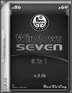 Windows 7 6 in 1 KottoSOFT v.3.16 (x86\x64) (RUS/Ua/ENG) [2016]