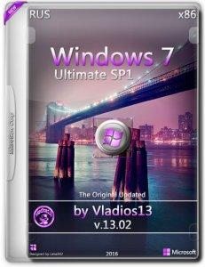 Windows 7 Ultimate SP1 By Vladios13 v.13.02 (x86) [Ru] (2016)