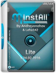 MInstAll by Andreyonohov & Leha342 Lite v.24.02.2016 (x86-x64) (2016) [Rus]