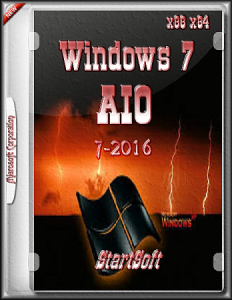 Windows 7AIO x86 x64 pe StartSoft 7-2016 [Ru](2016)