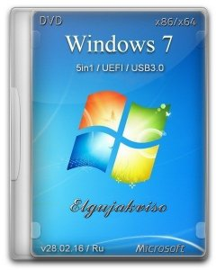 Windows 7 SP1 5in1 Elgujakviso Edition (x86/x64) [Ru] (v28.02.16)