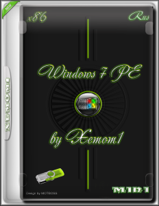 Windows 7 PE mini by Xemom1 (x86) [Ru] (23.03.2016)