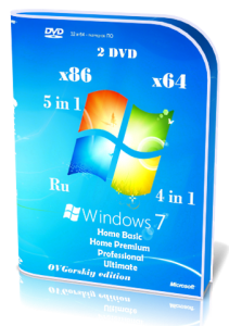 Microsoft Windows 7 SP1 x86/x64 Ru 9 in 2 Origin-Upd 04.2016 by OVGorskiy® 2DVD [Ru](2016)
