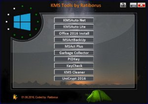 KMS Tools Portable 01.06.2016 by Ratiborus [Multi/Ru]