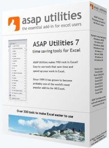 ASAP Utilities for Excel 7.1