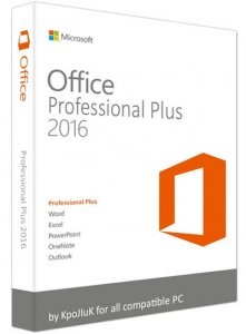 Microsoft Office 2016 Professional Plus + Visio Pro + Project Pro 16.0.4405.1000 RePack by KpoJIuK (2016.08)