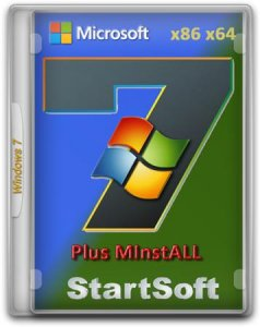 Windows 7 Ultimate SP1 x86/x64 Plus MInstAll StartSoft 24-2016 (2016)