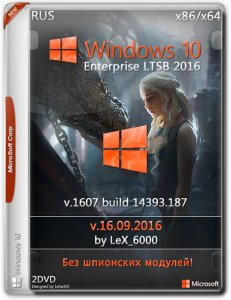 Windows 10 Enterprise LTSB 2016 v1607 / by LeX_6000