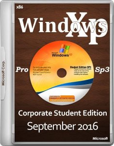 Windows XP Pro SP3 Corporate Student Edition September 2016