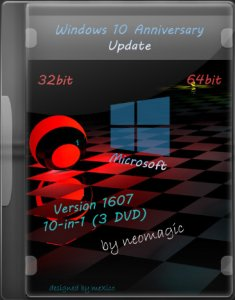 Windows 10 Anniversary Update Version 1607 / 10 in1 / 3 DVD / by neomagic / ~rus~