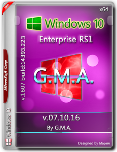 Windows 10 Enterprise x64 RS1 RUS G.M.A. v.07.10.16