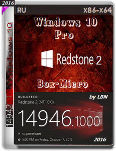 Microsoft Windows 10 Pro 14946 rs2 / BOX-MICRO / lopatkin