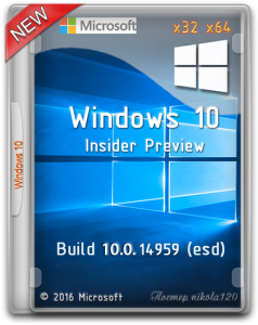 Microsoft Windows 10 Insider Preview Build 10.0.14986 (esd) [Ru/En]