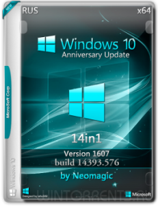 Windows 10 v1607 (14393.576) 7in1 by neomagic (2 DVD) (x86-x64) (2016) [Ru]