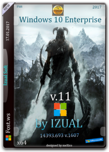 Windows 10 Enterprise 14393.693 v.1607 by IZUAL v.11 (x64) (2017) [Rus]