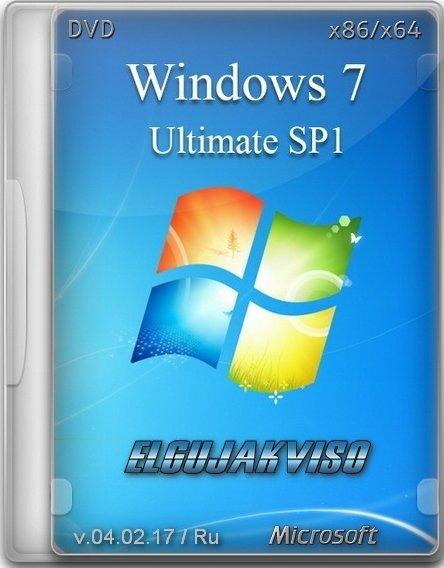 Windows 7 Ultimate SP1 (x86/x64) Elgujakviso Edition v.04.02.17 [Ru]