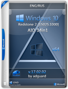 Windows 10 Redstone 2 [15025.1000] (x64) AIO [14in1] adguard / ~eng-rus~