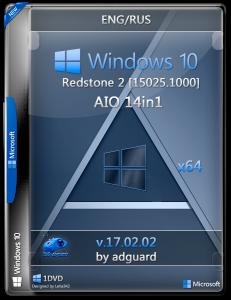 Windows 10 Redstone 2 [15025.1000] (x64) AIO [14in1] adguard / ~eng-rus~