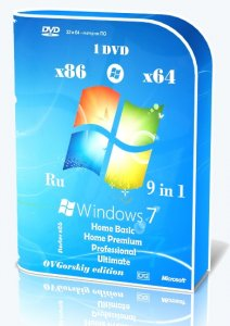 Microsoft Windows 7 SP1 x86/x64 Ru 9 in 1 Origin-Upd 09.2017 by OVGorskiy® 1DVD