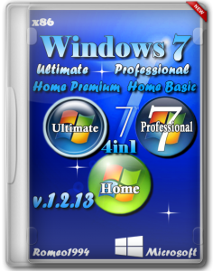 Windows 7 (Ultimate) (Professional) (Home Premium) (Home Basic) (x86) 4in1 v.1.2.13 by Romeo1994 (2013) Русский