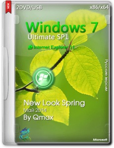 Windows® 7 SP1 Ultimate New Look Spring by Qmax (x86/x64) (2014) [Rus]