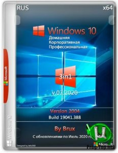 Windows 10 2004 (19041.388) x64 Home + Pro + Enterprise (3in1) by Brux